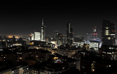 Milano By Night. Skyline di Porta Nuova. #ODM721