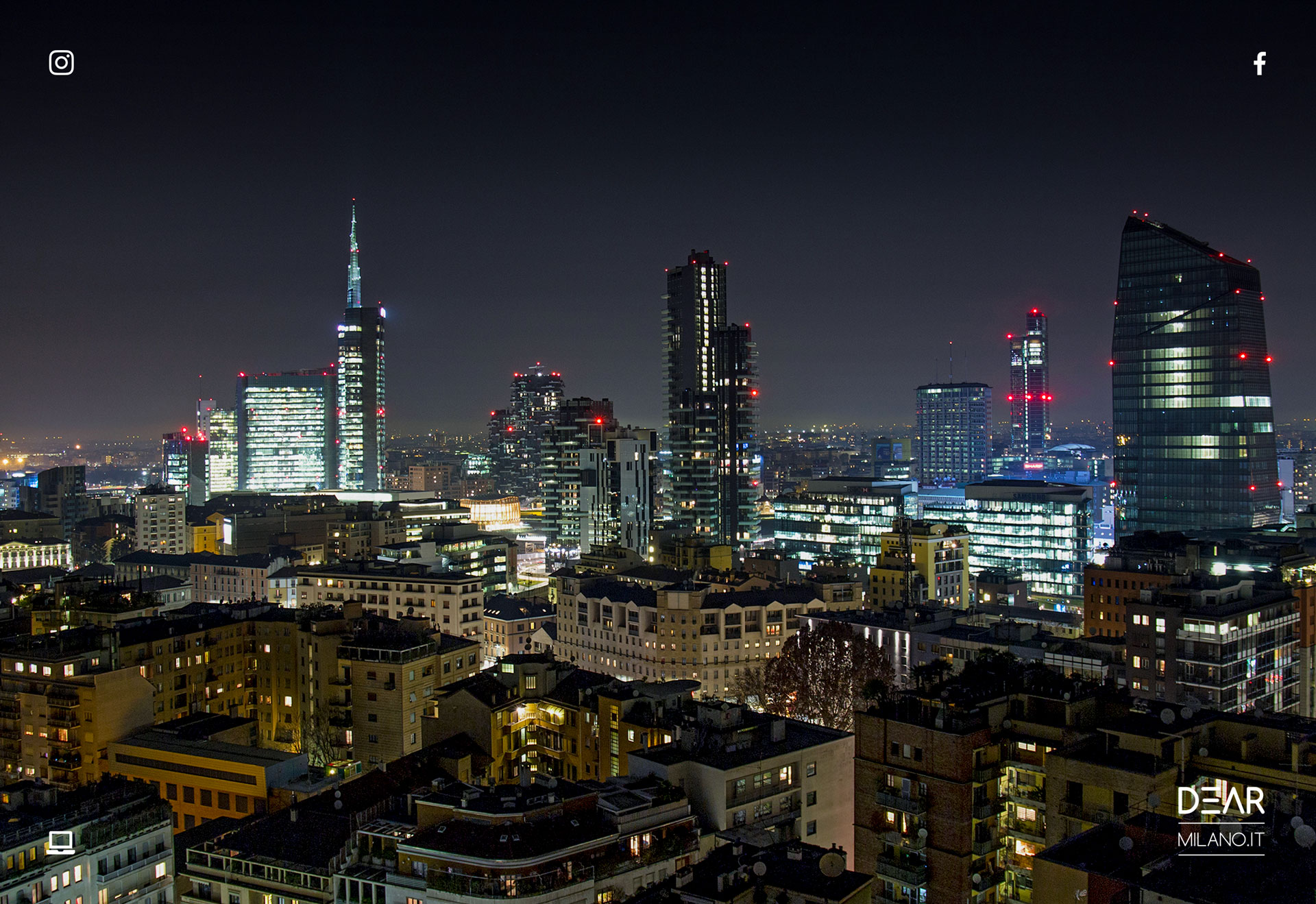 skyline milano by night, milano, dearmilano.it, paolo marchesi fotografo