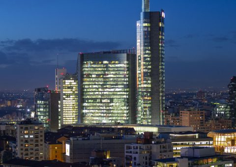 torre unicredit, milano by night, paolo marchesi fotografo